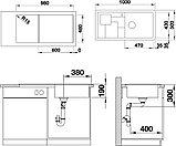 Мойка кухонная Blanco Sity XL 6 S антрацит, аксессуары киви, фото 3