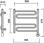 Полотенцесушитель электрический Domoterm Офелия П6 50x50, хром, R, фото 4