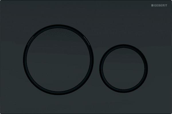 Кнопка смыва Geberit Sigma 20 черная, матовый лак
