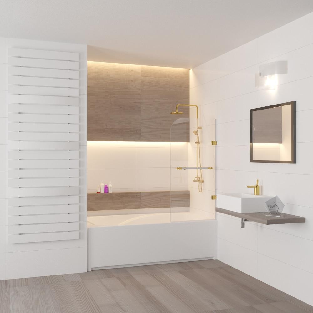 Шторка на ванну RGW Screens SC-10 800х1500 профиль белый