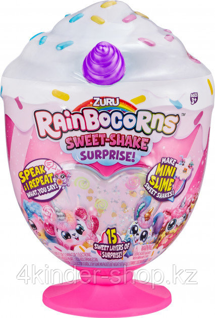 Мягкая игрушка-сюрприз Rainbocorn A серия Sweet Shake - фото 2