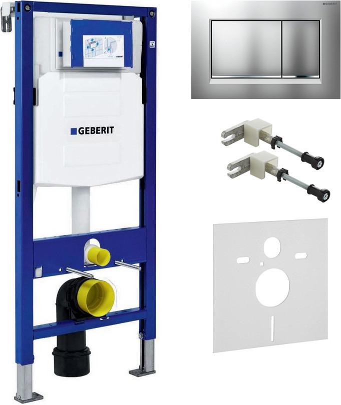 Система инсталляции для унитазов Geberit Duofix UP320 111.300.00.5 с кнопкой смыва матовый хром/хром,