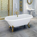 Акриловая ванна Radomir Леонесса 1 175x80 ножки золото, фото 2