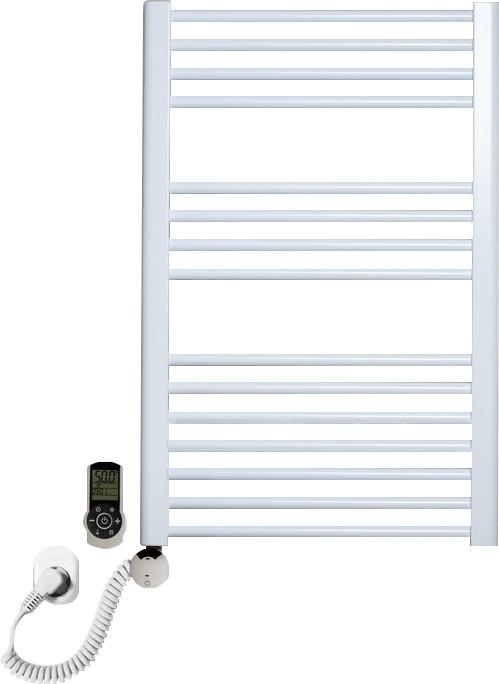 Полотенцесушитель электрический Luxrad Regular 063822 76x50 L, белый, терморегулятор selmo smart programm с