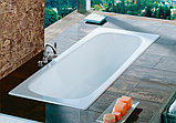Чугунная ванна Roca Continental 21290200R 160x70 см, без антискользящего покрытия + смеситель для ванны с, фото 3