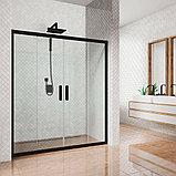 Душевая дверь в нишу Kubele DE019D4-CLN-BLMT 155 см, профиль матовый черный, фото 2