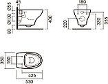 Комплект Sanitana Pop S999661 подвесной унитаз + инсталляция + кнопка, фото 6