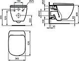 Унитаз подвесной Ideal Standard Tesi T355101 безободковый + система инсталляции и кнопка смыва, фото 10