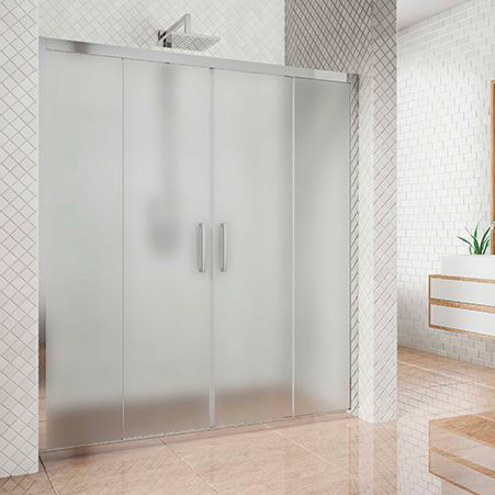 Душевая дверь в нишу Kubele DE019D4-MAT-CH 185 см, профиль хром
