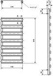 Полотенцесушитель электрический Luxrad Scala New 065435 84х50 R, серый, терморегулятор selmo pad, фото 3
