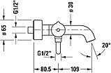 Смеситель Duravit C.1 C15230000010 для ванны с душем, фото 3