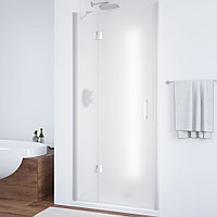 Душевая дверь в нишу Vegas Glass AFP 100 07 10 L профиль матовый хром, стекло сатин