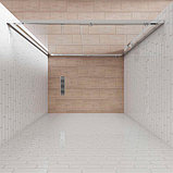 Душевая дверь в нишу Kubele DE019D2-CLN-MT 155 см, профиль матовый хром, фото 3