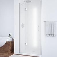 Душевая дверь в нишу Vegas Glass AFP 110 07 10 L профиль матовый хром, стекло сатин