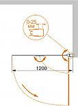 Шторка на ванну Cezares Eco O-V-21-120/140-P-Cr-R стекло punto, фото 4