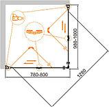 Душевой уголок Cezares Eco O-ASH-2-80/100-C-Cr, фото 2