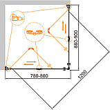 Душевой уголок Cezares Eco O-ASH-2-80/90-C-Cr, фото 2