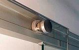 Душевая дверь в нишу Kubele DE019D4-MAT-CH 130 см, профиль хром, фото 3
