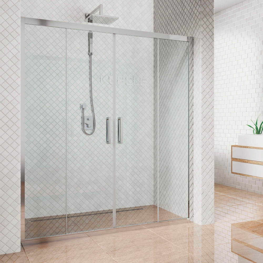 Душевая дверь в нишу Kubele DE019D4-CLN-CH 230 см, профиль хром