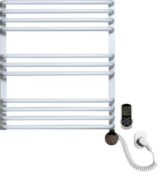 Полотенцесушитель электрический Luxrad Salto Max 063487 60х53 R, белый, терморегулятор selmo smart programm с