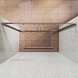Душевая дверь в нишу Kubele DE019D4-CLN-CH 200 см, профиль хром, фото 3