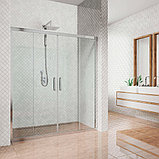 Душевая дверь в нишу Kubele DE019D4-CLN-CH 195 см, профиль хром, фото 2