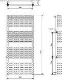 Полотенцесушитель электрический Luxrad Salto Max 063624 160х53 L, белый, терморегулятор selmo pad, фото 4