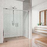 Душевая дверь в нишу Kubele DE019D4-CLN-CH 130 см, профиль хром, фото 2