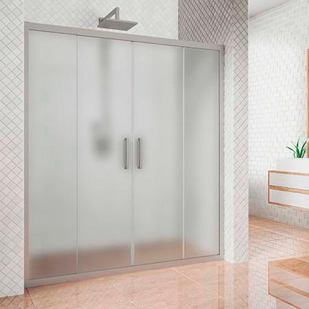 Душевая дверь в нишу Kubele DE019D4-MAT-MT 155 см, профиль матовый хром