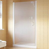 Душевая дверь в нишу Vegas Glass EP Lux 95 01 10 L профиль белый, стекло сатин