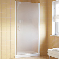 Душевая дверь в нишу Vegas Glass EP Lux 80 01 10 R профиль белый, стекло сатин