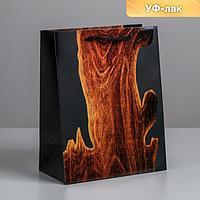 Пакет ламинированный вертикальный Wood, MS 18 × 23 × 10 см
