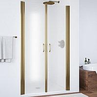 Душевая дверь в нишу Vegas Glass E2P 95 05 10 профиль бронза, стекло сатин