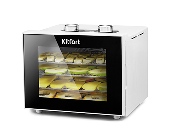 Сушилка для овощей и фруктов Kitfort KT-1915-2, белая