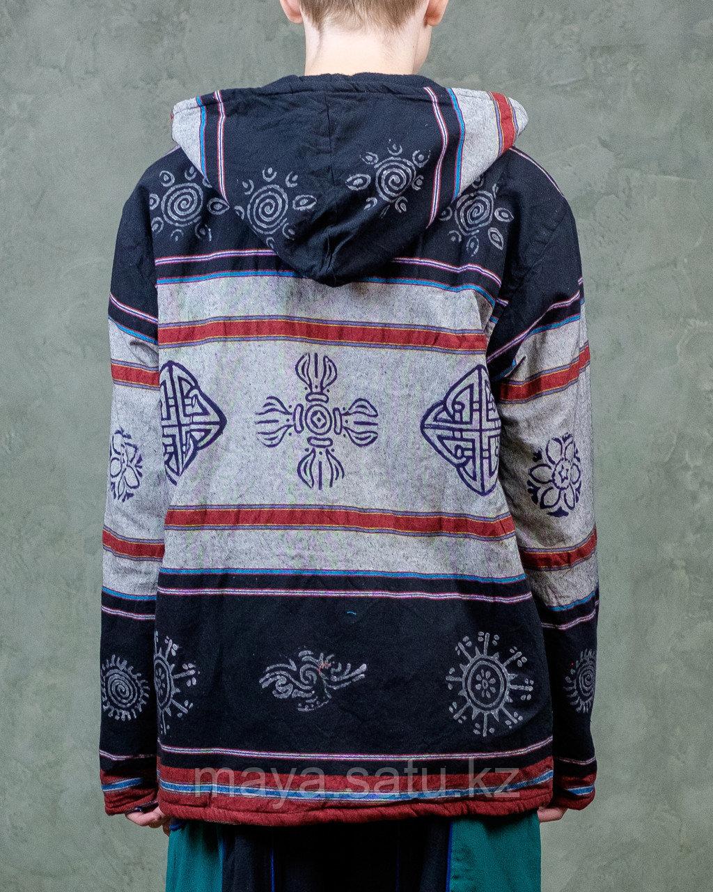 Непальская куртка с этническими рисунками - фото 2