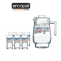 Графин со стаканами Arcopal Florine (7 предметов)