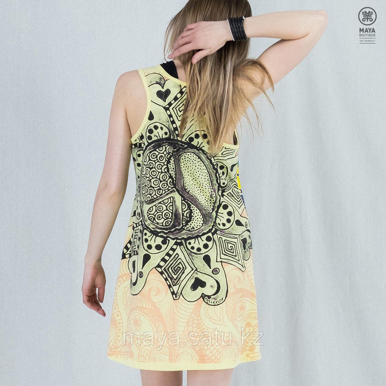 Платье-туника Mirror с принтом Пацифика - фото 2