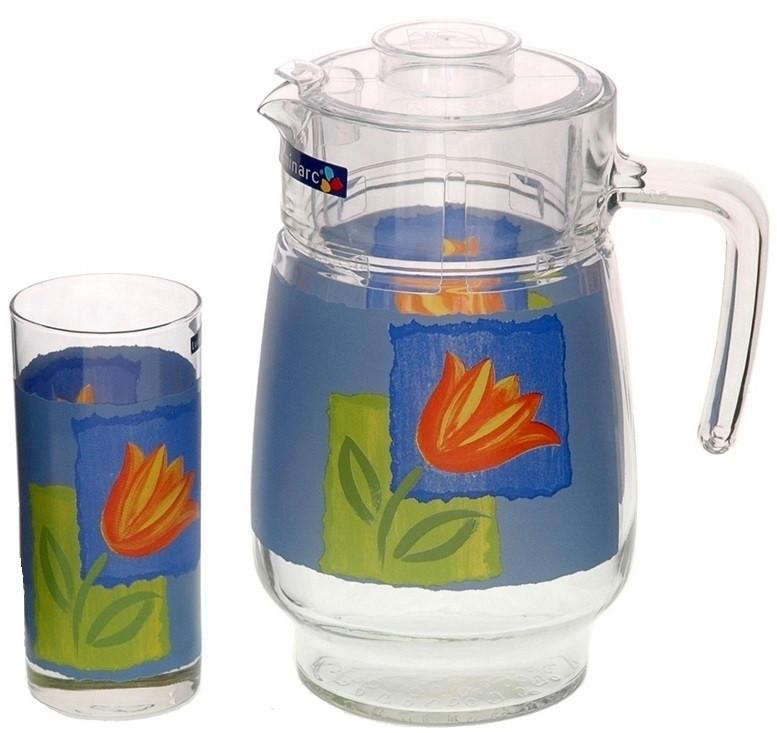 Графин со стаканами Luminarc Melys Azur (7 предметов)