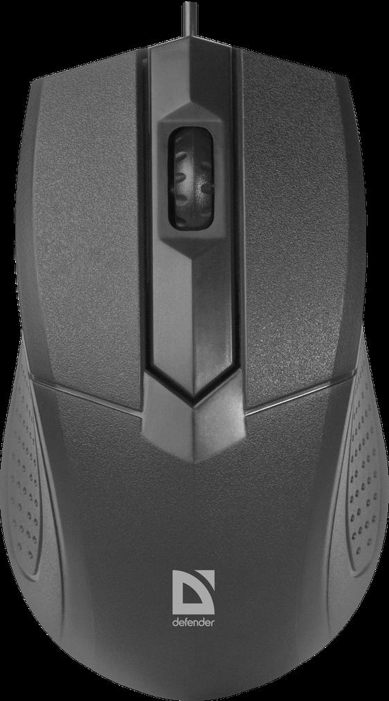 Мышь проводная Defender Classic MB-270 (Черный)