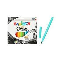 Фломастеры акварельные 20 цветов, CARIOCA 'Super Brush', с кистевым пишущим узлом, смываемые, картон,