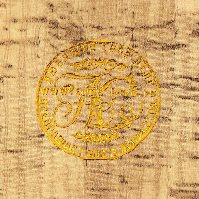 """Сейф-книга дерево """"Морской путь, карта"""" кожзам 21х13х5 см - фото 3"""