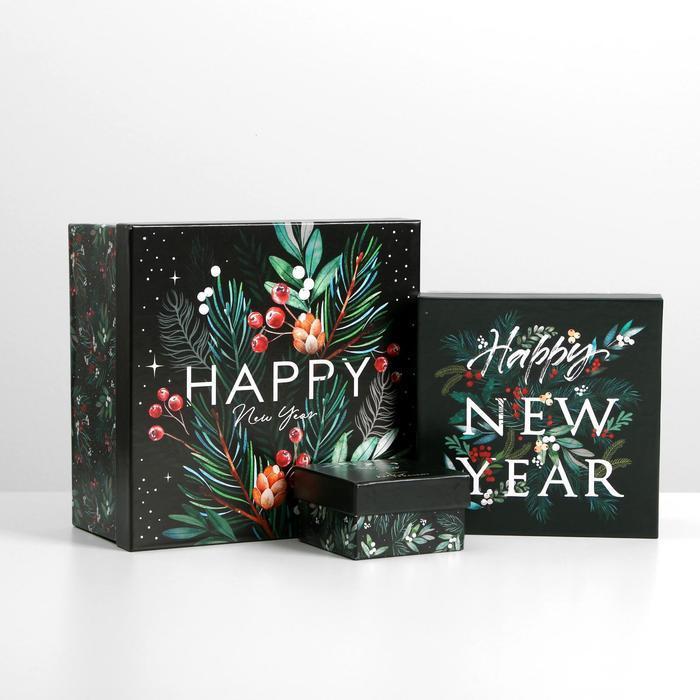 Набор подарочных коробок 10 в 1 «Новый год», 10.2 × 10.2 × 6 28.2 × 28.2 × 15 см - фото 3