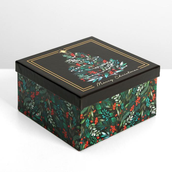 Набор подарочных коробок 10 в 1 «Новый год», 10.2 × 10.2 × 6 28.2 × 28.2 × 15 см - фото 6