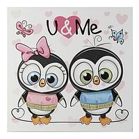 "Картина ""Ты и я - пингвины"" 35х35 см"