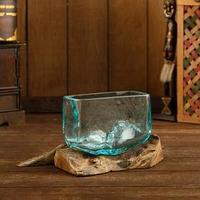 Вазон стекло на коряге 'Бриз' 12*20*15 см