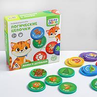 Развивающая игра «Логические цепочки. Мамы и детёныши», 2+
