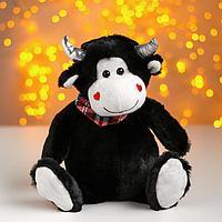 Мягкая игрушка «Влюблённый бычок», цвет чёрный