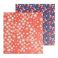 Бумага для скрапбукинга «Варежки», 30,5 × 32 см, 180 г/м