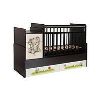 Кровать детская Фея 1100 Зайчонок, венге-бежевый