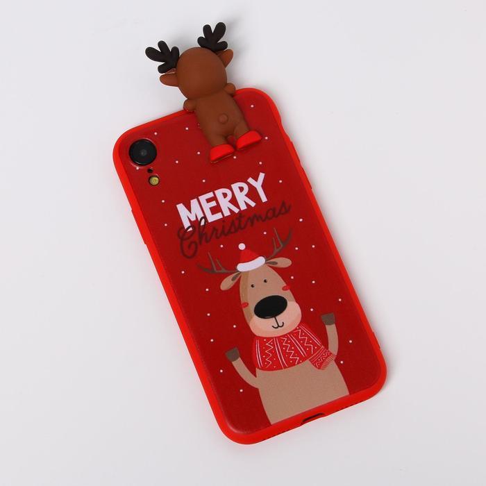 Чехол для телефона iPhone XR «Счастливого рождества», с персонажем, 7,6 х 15,1 см - фото 1